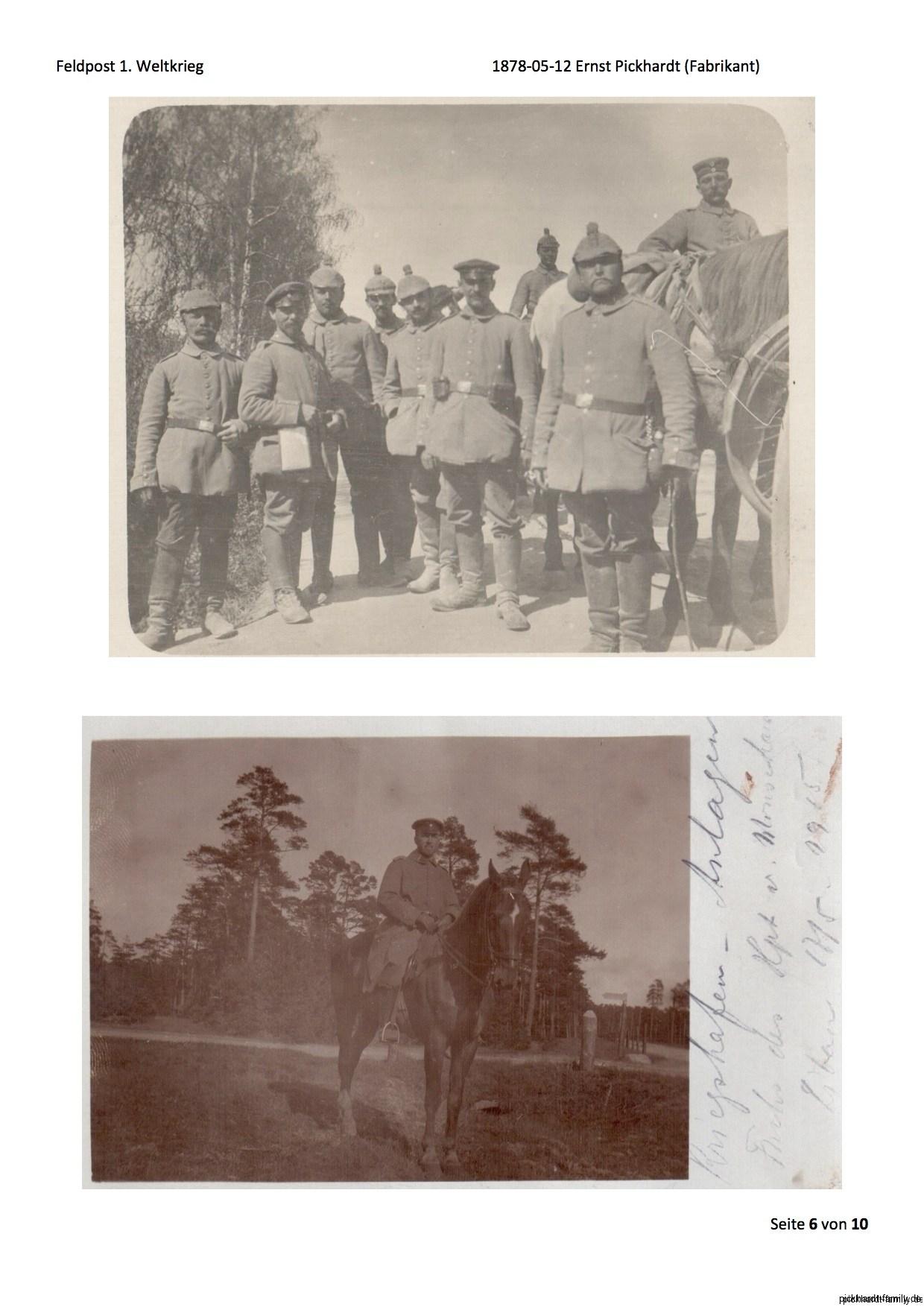 1914 Feldpost von Ernst Pickardt als Einjährig-Freiwilliger in Russland3
