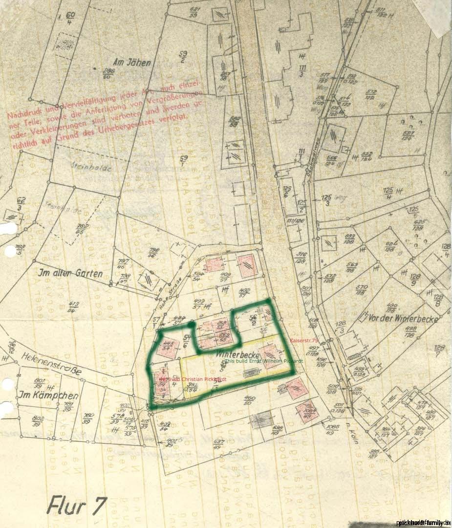 Grundstück Kaiser str. 75 x