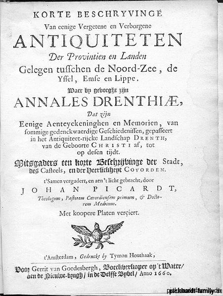 Buch Picardt_1660_titelpagina