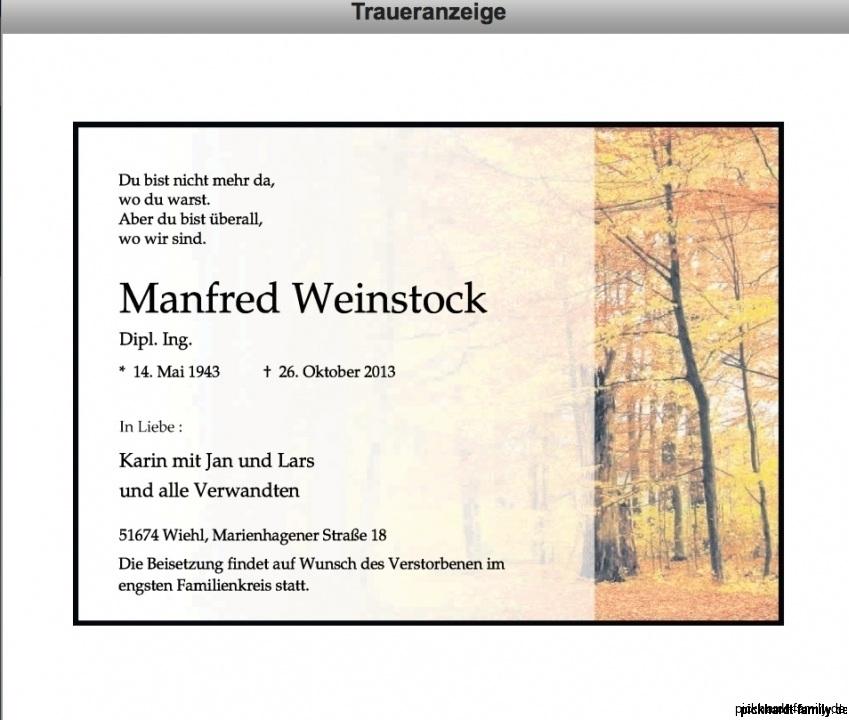 Manfred Weinstock +