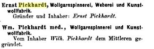 pickhardt Spinnerei