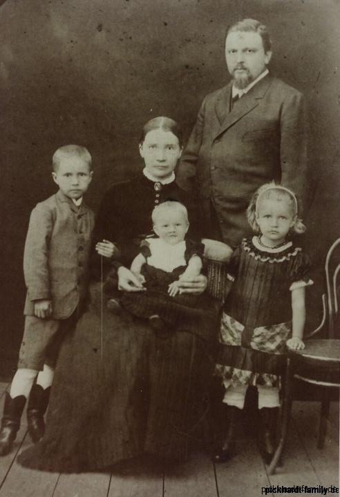 1853-10-19 Ernst Heinrich Pickhardt (Junior) +Familie