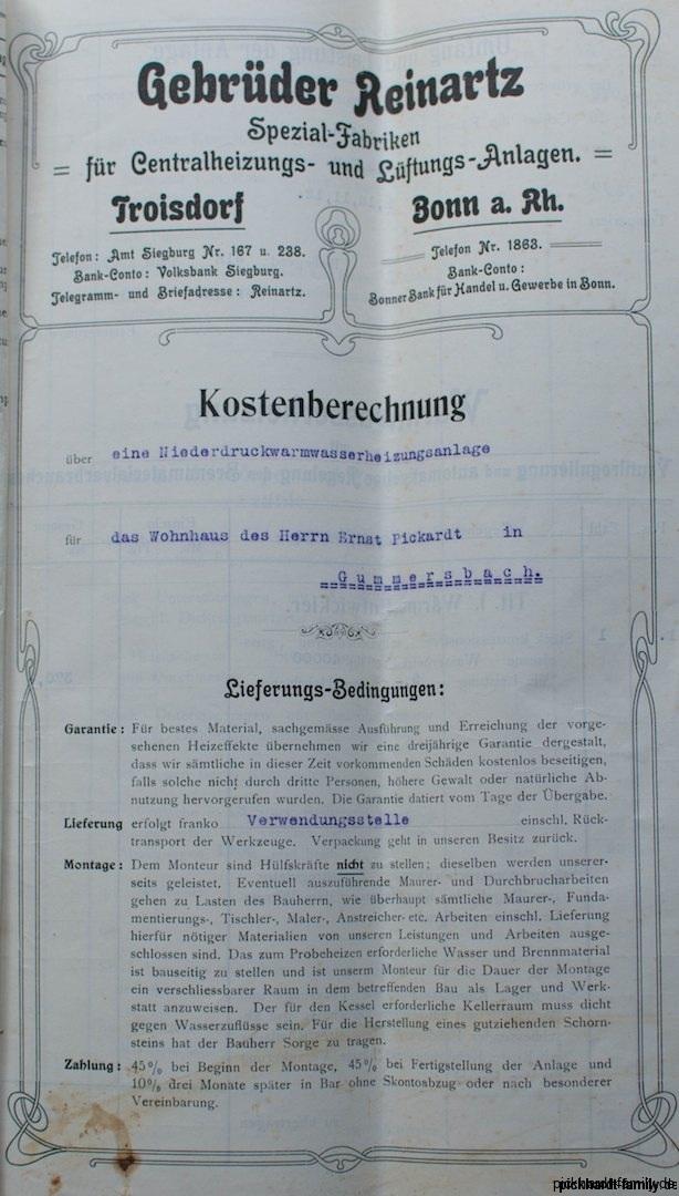 1913 Umbau Heizung Villa Pickhardt Kaierstraße 75, Gummersbach211